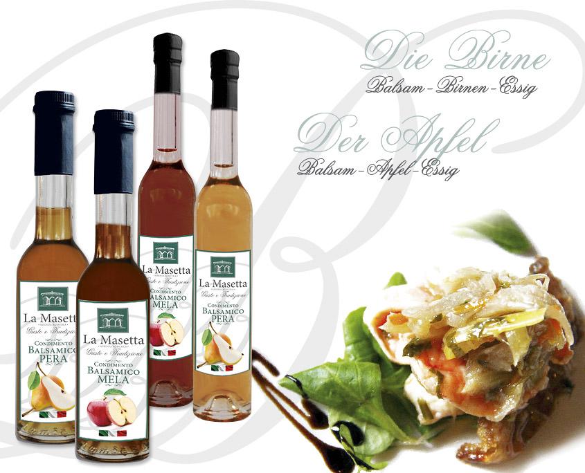 Apfel und Birne: zusätzlich zum Weinessig