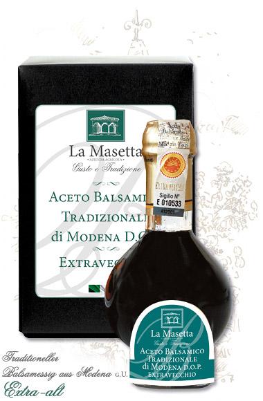 Traditioneller Balsamessig aus Modena g.U. Extra-alt