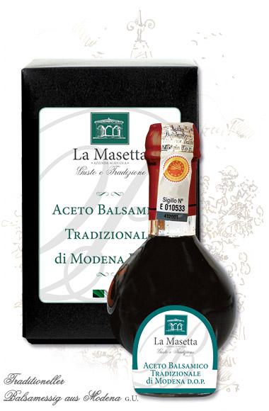 Traditioneller Balsamessig aus Modena g.U.